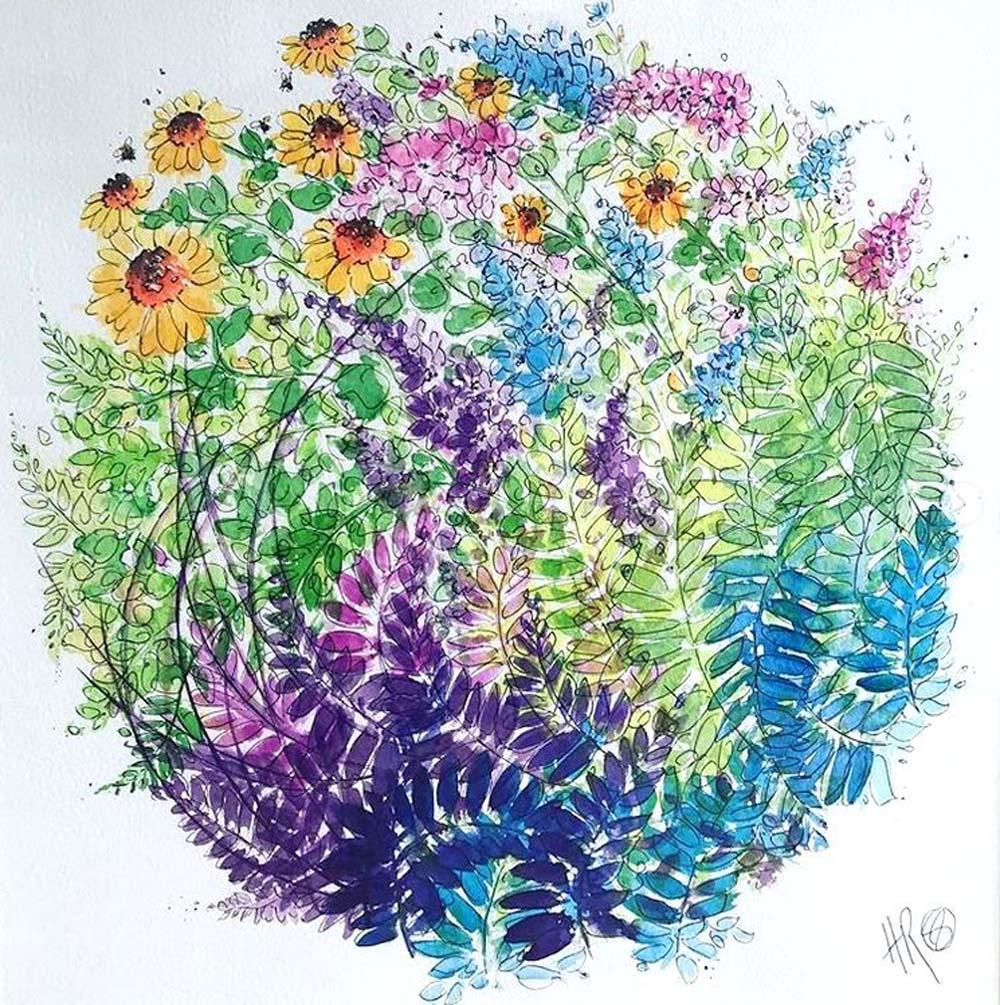 The Confetti Fields 2020 - artist Hayley Reynolds