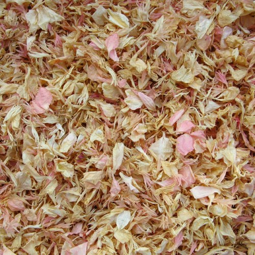 rose gold confetti petals
