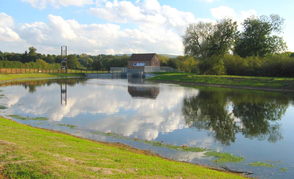 Pershore Hydro station and leat