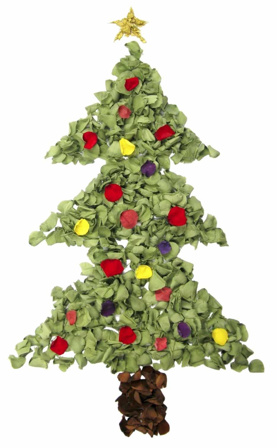 Flower Petal Christmas Tree