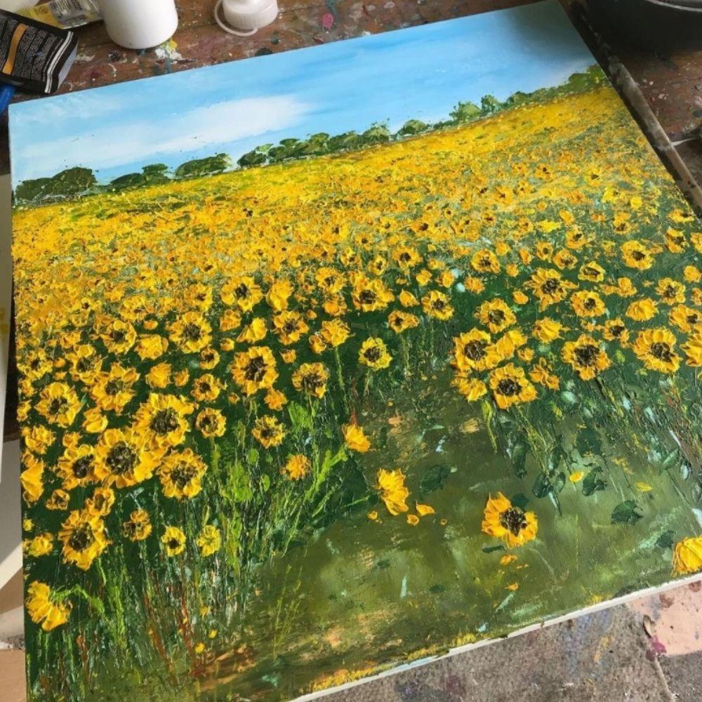 sunflower field wyke manor estate artist in residence hayley reynolds