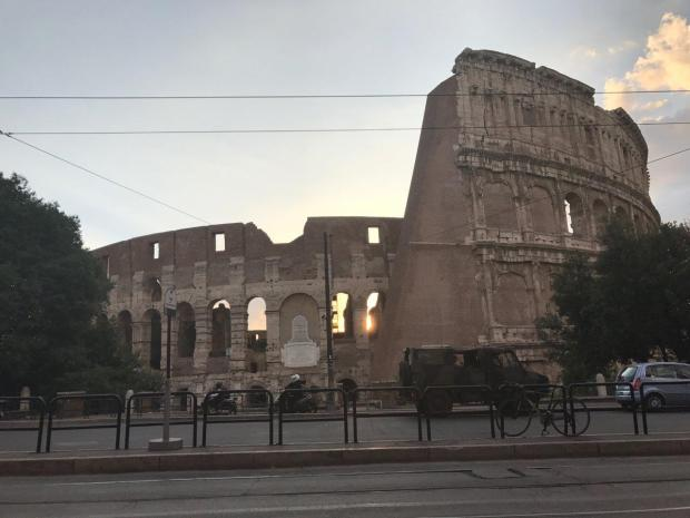 Colosseum, visiting Rome
