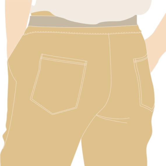 La poche plaquée (appliquée)