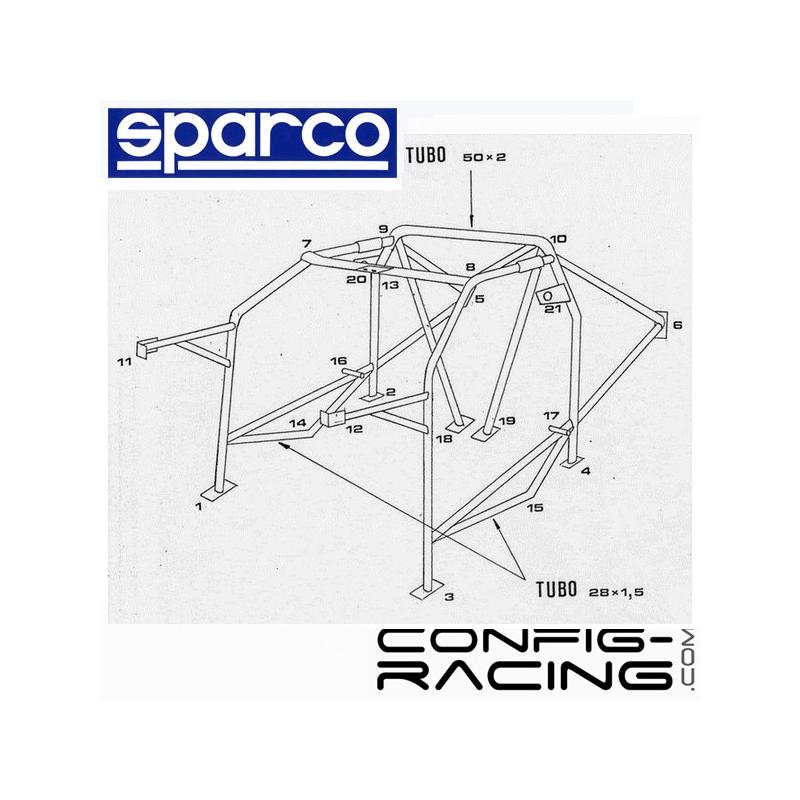Arceau SPARCO ONS Lancia Delta HF/intégrale Multipoints à