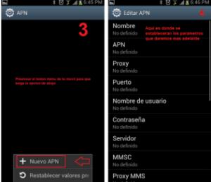 reparar configurar apn tigo colombia android gratis