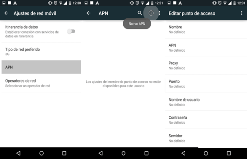 como reparar configurar apn movilnet venezuela en android
