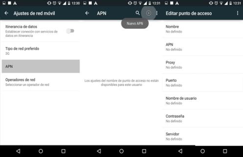 como reparar configurar apn unefon mexico android
