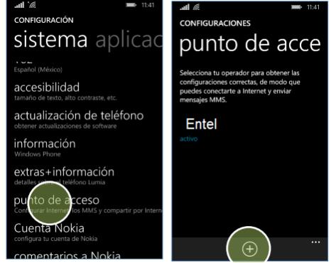 configurar apn entel peru windows phone lumia