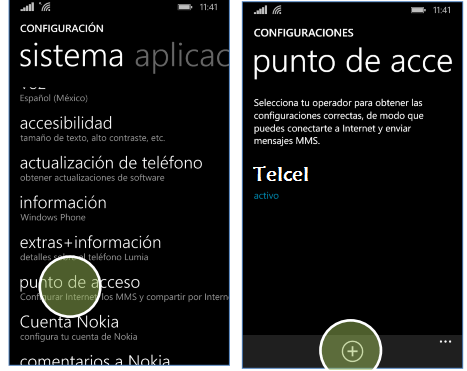 configurar apn telcel mexico windows phone lumia
