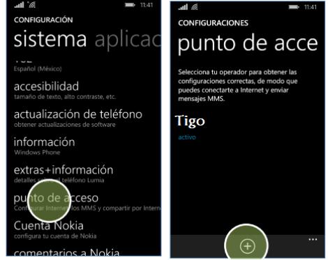 configurar apn tigo colombia windows phone lumia