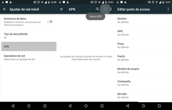 como reparar configurar apn claro guatemala en android