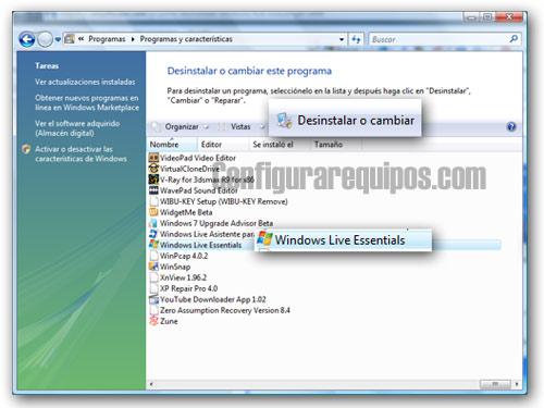 desinstalar windows messenger 2009 1