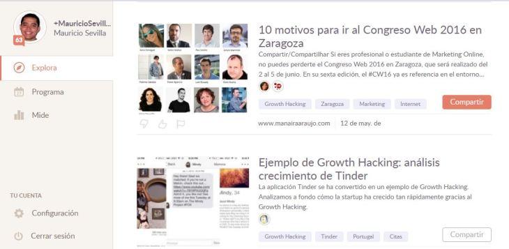 Growth Hacking Temas de Klout