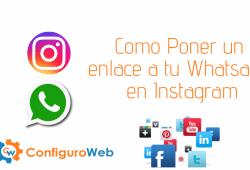 Como Poner un enlace a tu Whatsapp en Instagram
