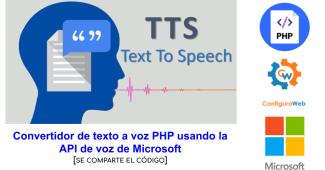 Convertidor de texto a voz PHP usando la API de voz de Microsoft