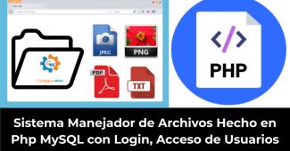 Sistema Manejador de Archivos Hecho en Php MySQL con Login Acceso de Usuarios