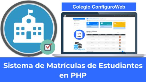 Sistema de Matrículas de Estudiantes en PHP