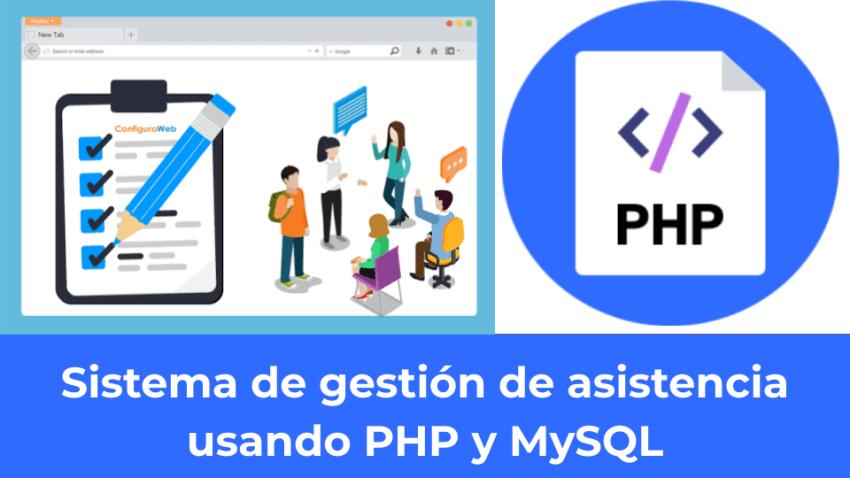 Sistema de gestión de asistencia usando PHP y MySQL