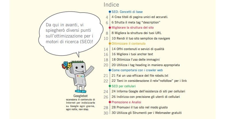 manuale seo di google