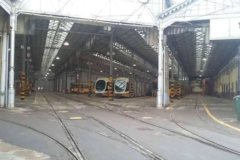Il deposito tram di Atm
