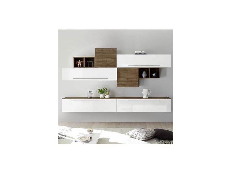 ensemble meuble suspendu blanc et