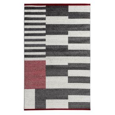 koton tapis de salon santana gris noir
