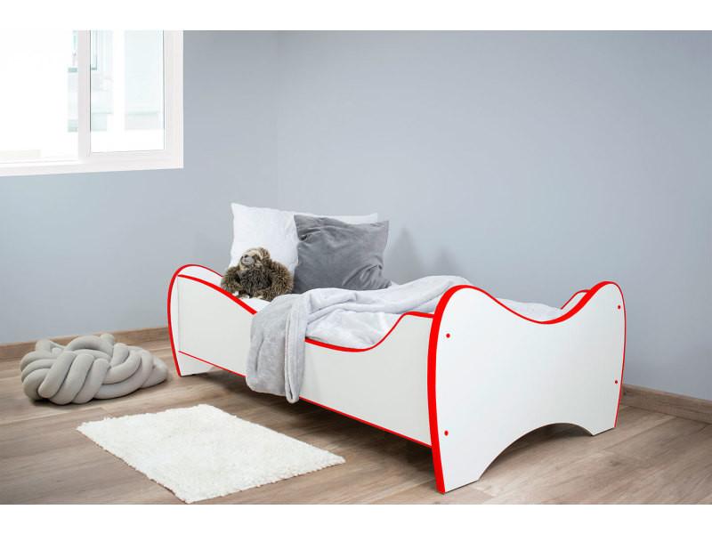 midi lit d enfant pour garcons et filles 140x70 cm ensemble lit matelas sommier meubles chambre d enfant rouge