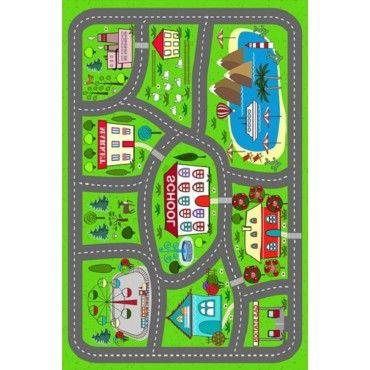 tapis enfant vert conforama