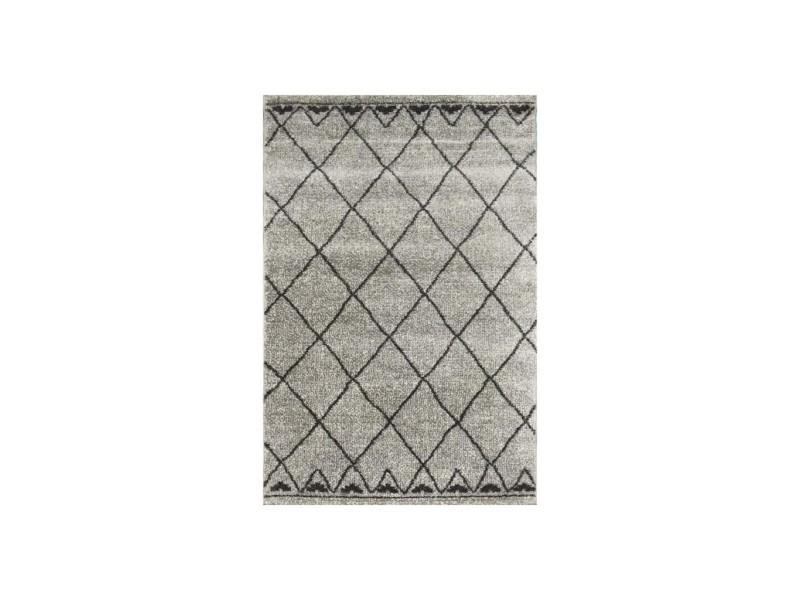 https www conforama fr decoration textile tapis tapis salon et chambre touareg tapis de couloir style berbere 80 x 150 cm 100 polypropylene gris et noir p r61023162