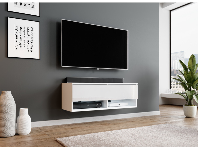 furnix meuble tv suspendu moderne rogga