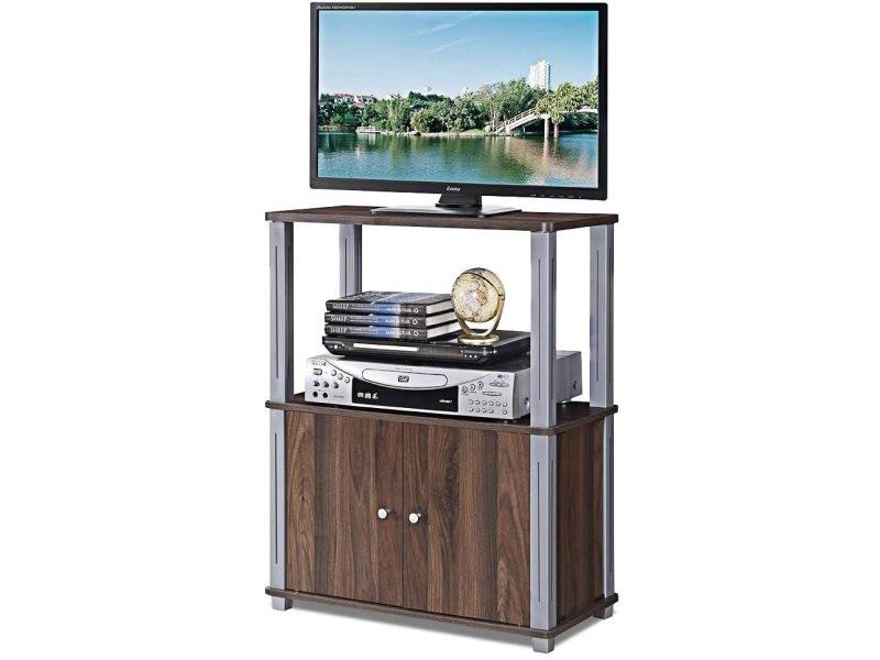 giantex meuble tv avec compartiments en