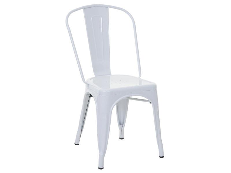 chaise de bistro en metal hwc a73