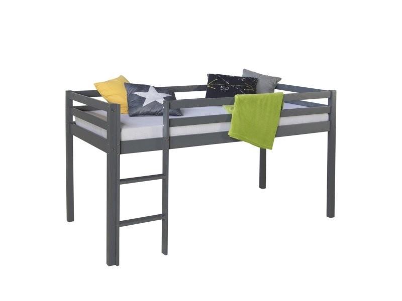lit mezzanine pour enfant 90x200cm avec