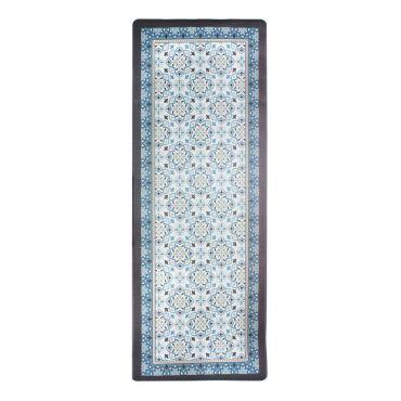 tapis en jonc de mer bleu 70x110