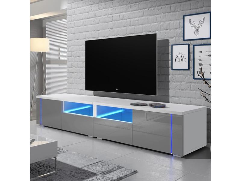 meuble tv oxy double 2x100 cm
