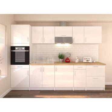 https www conforama fr cuisine salle de bain element de cuisine les cuisines prets a emporter obi cuisine complete l 300 cm avec colonne blanc laque brillant 202z30028 p d27792330