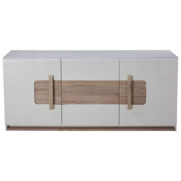 buffet 3 portes levi coloris bois blanc