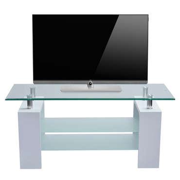 meuble tv 110 cm glori coloris blanc