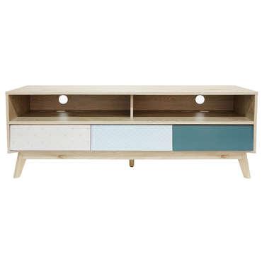 meuble tv 140 cm pastel coloris