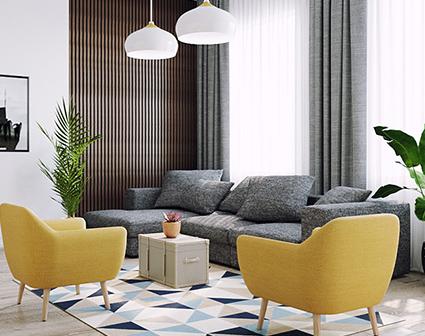 salon bleu et jaune gamboahinestrosa