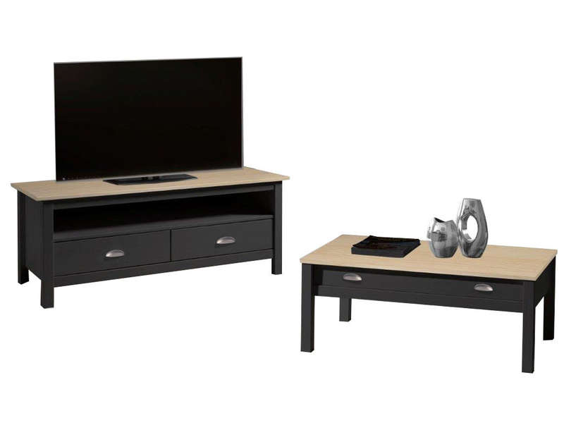 meuble tv amazone coloris anthracite et