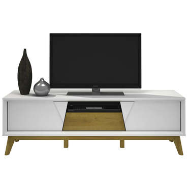 meuble tv blanc conforama
