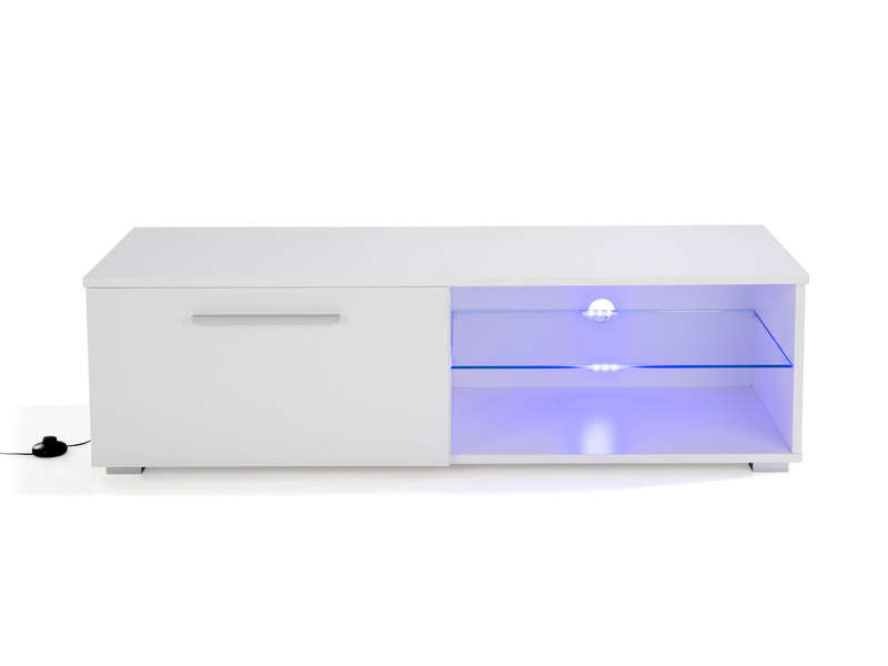 meuble tv l 120 cm ohio coloris blanc