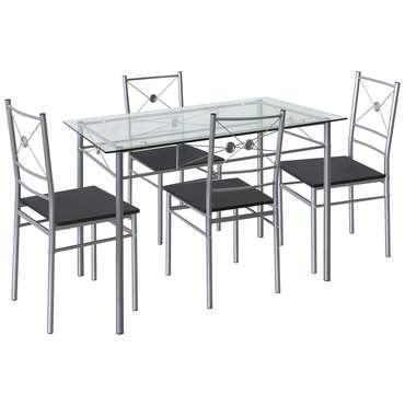 4 chaises de cuisine hanoi coloris gris