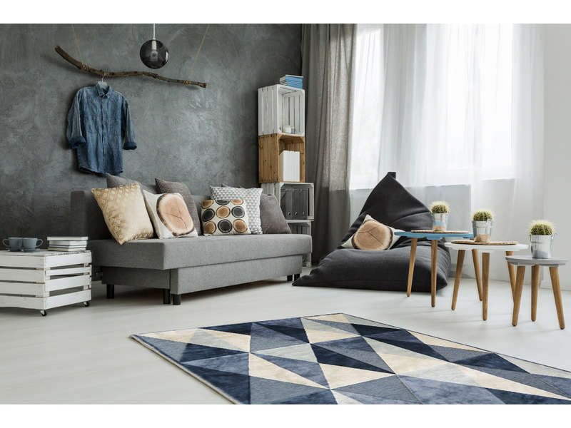 tapis 160x230 cm stockholm coloris bleu
