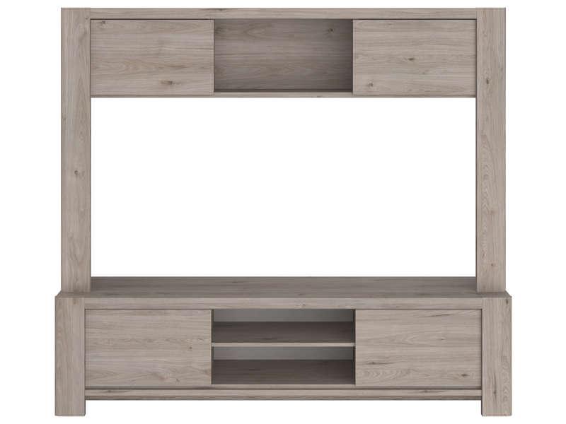 https www conforama fr canape salon sejour salon meuble tv meuble tv haut a niche 181 cm portland imitation chene gris p 706661