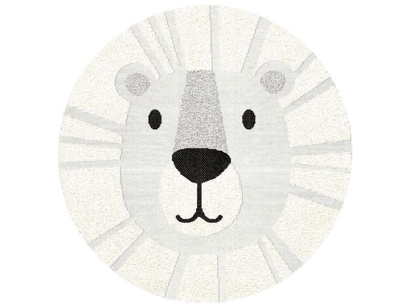 https www conforama fr enfant bebe decoration chambre enfant tapis enfant tapis enfant c3 b8 120 cm lion coloris blanc p 708553