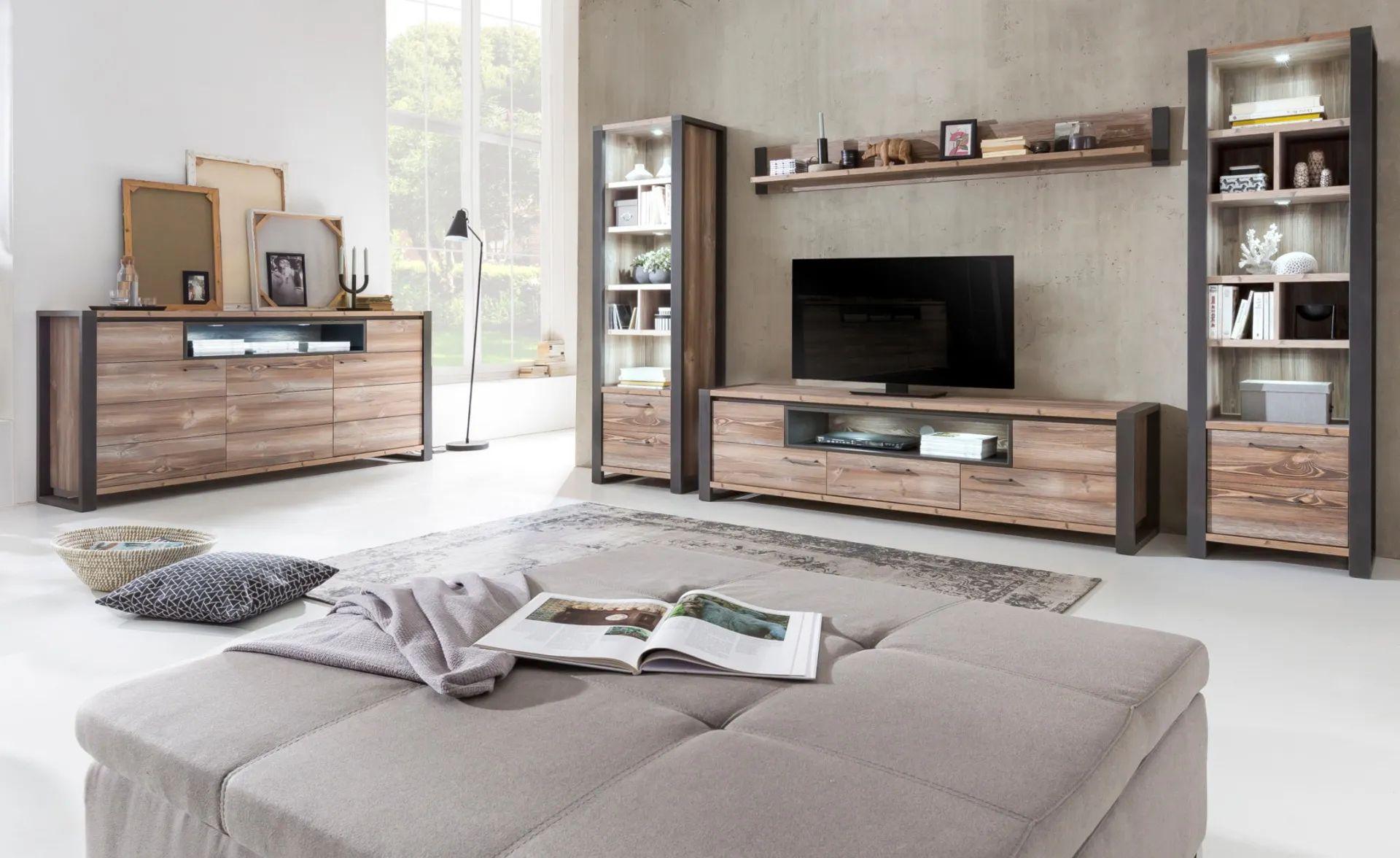 parete attrezzata dal design moderno abbinato alla qualità del legno. Soggiorno Tenerife Parete Soggiorno Conforama