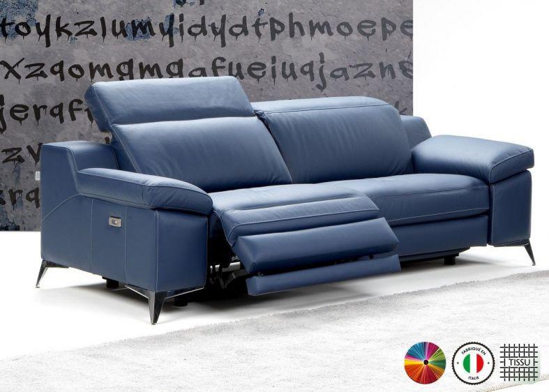 pandora canape 2 places relax electrique en tissu