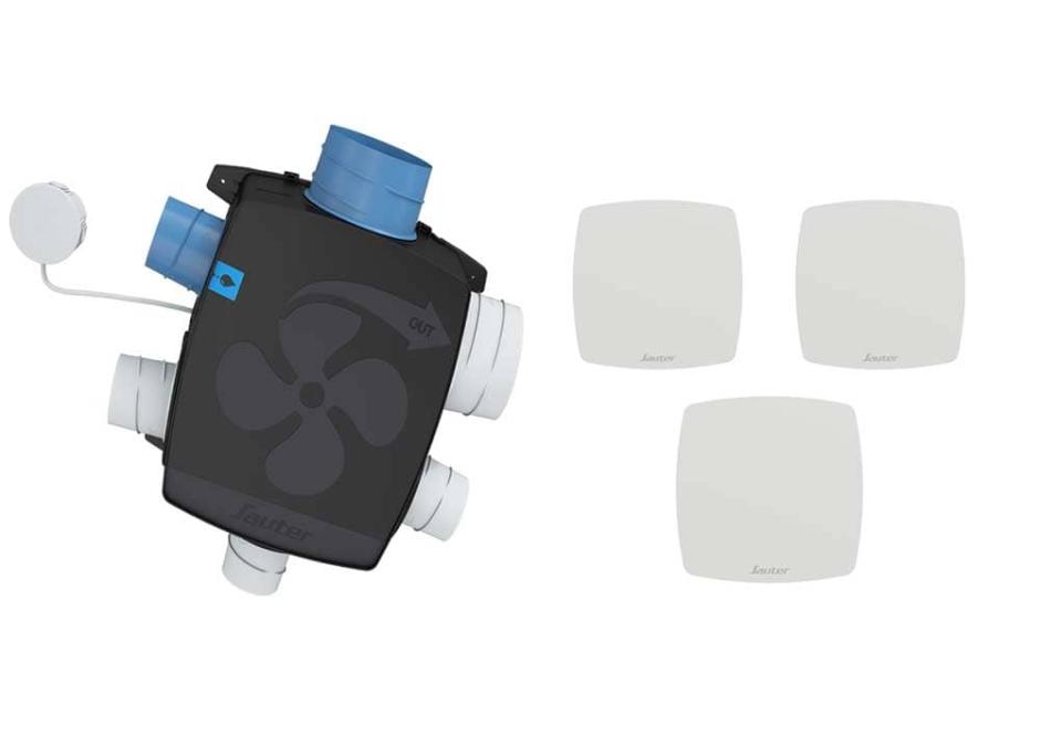 Vmc Simple Flux Auto Reglable Agalina Extra Plat Kit Confort Sauter